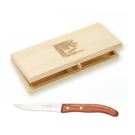 Wood box of 6 Grill steak knives exotic wood handle