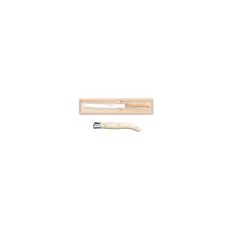 Wood box of 6 Thiers knives wood handle