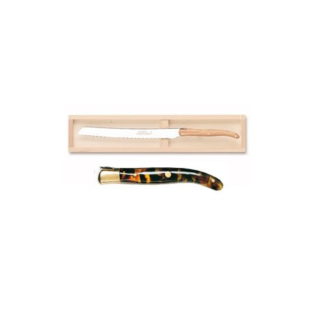 Wood box of 6 Thiers knives resin handle