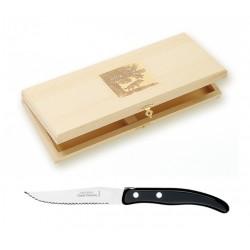 Coffret 6 couteaux individuels à foie gras super Laguiole mitre inox manche nacrine ivoirine