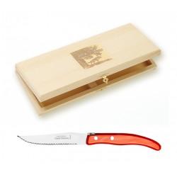 Coffret 6 couteaux individuels à foie gras super Laguiole mitre laiton