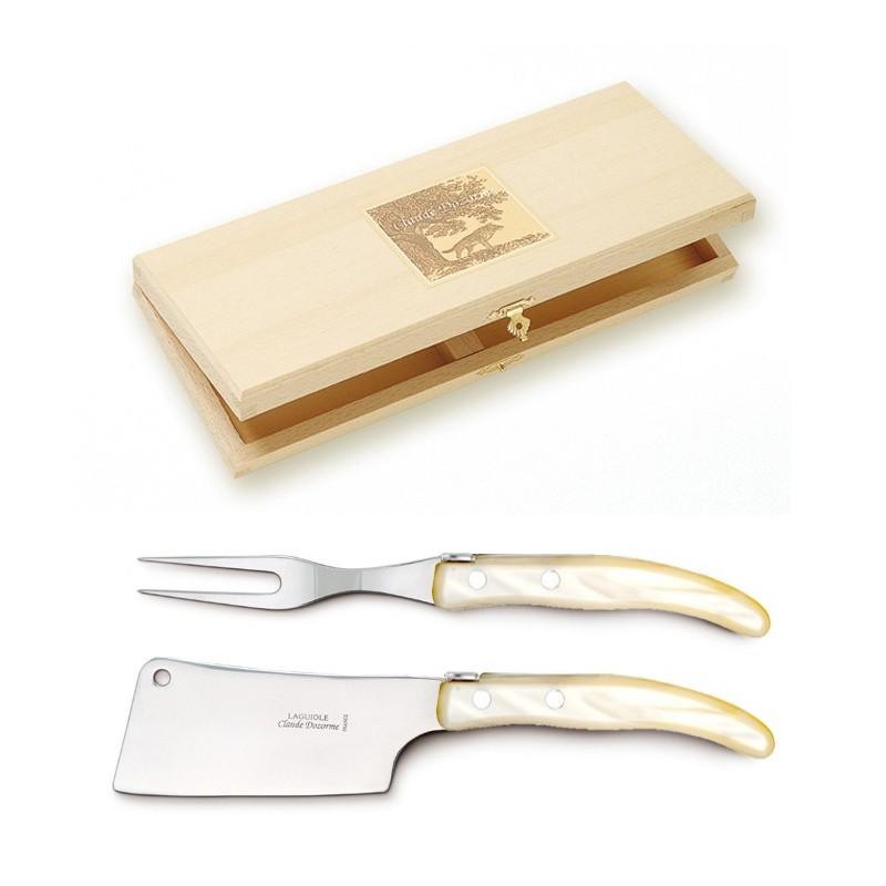 Coffret 6 couteaux Grillade manche olivier