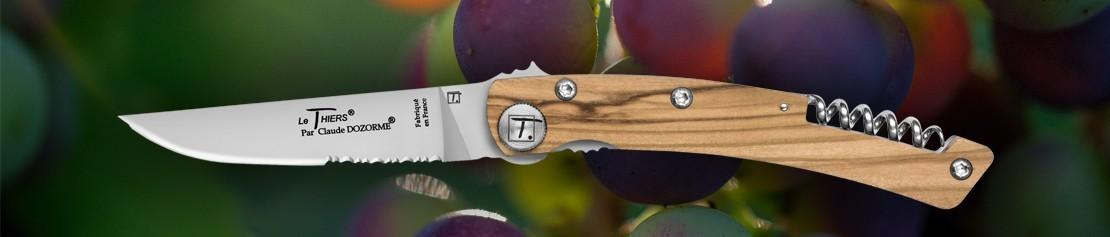 Couteau pliant Le Thiers avec tire bouchon - Coutellerie Dozorme
