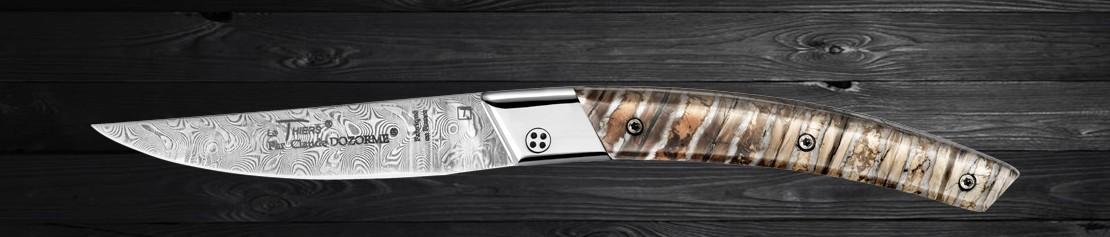 Couteaux en Molaire de Mammouth - Coutellerie Dozorme