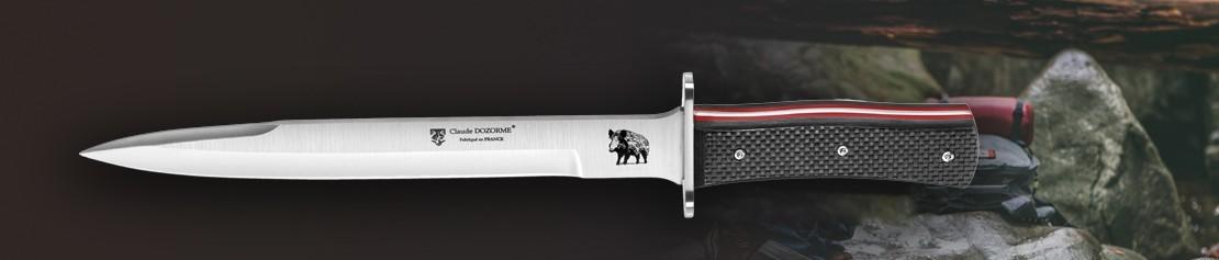 Couteaux chasseur et dépeceur- Fabrication Française - Coutellerie Dozorme